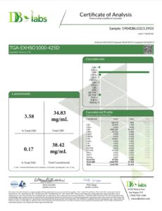 1000mg CBD Oil Lab Analysis